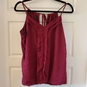 Tie Back Tank Top Blouse